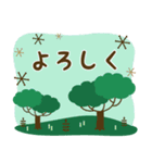 北欧風すたんぷ★森の毎日使える日常会話(個別スタンプ:11)