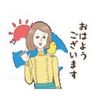 淡いレトロ女子ぃず2【日常挨拶】(個別スタンプ:1)