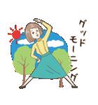 淡いレトロ女子ぃず2【日常挨拶】(個別スタンプ:2)