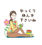 淡いレトロ女子ぃず2【日常挨拶】(個別スタンプ:25)