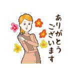 淡いレトロ女子ぃず2【日常挨拶】(個別スタンプ:35)