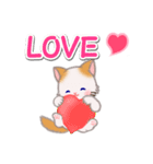 ハート伝える もふもふしっぽの子猫ちゃん(個別スタンプ:4)