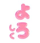 ぷくもじ ピンク(ビッグスタンプ)(個別スタンプ:25)