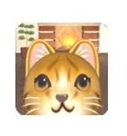 飛び出す 暖炉の前の猫(個別スタンプ:1)