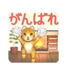 飛び出す 暖炉の前の猫(個別スタンプ:18)