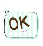 カスタム★かわいい♡ふきだし 日常会話(個別スタンプ:13)