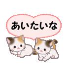 ハート伝える 三毛猫ツインズ(個別スタンプ:25)