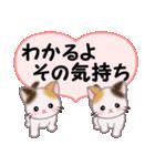 ハート伝える 三毛猫ツインズ(個別スタンプ:36)