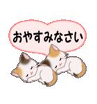 ハート伝える 三毛猫ツインズ(個別スタンプ:39)