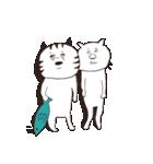 猫と亀の友情のスタンプ(個別スタンプ:1)