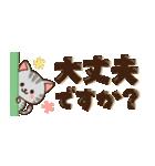 【省スペース♡】ナチュラルガール&猫(個別スタンプ:11)