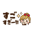 【省スペース♡】ナチュラルガール&猫(個別スタンプ:16)