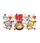 【省スペース♡】ナチュラルガール&猫(個別スタンプ:29)