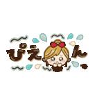 【省スペース♡】ナチュラルガール&猫(個別スタンプ:34)