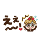【省スペース♡】ナチュラルガール&猫(個別スタンプ:35)