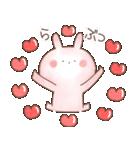 【飛び出す】ぬくうさ15♡ラブラブ(個別スタンプ:6)