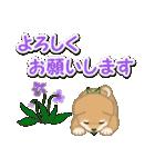 優しい春 よちよち豆柴(個別スタンプ:18)