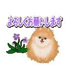 優しい春 ふわふわポメちゃん(個別スタンプ:18)