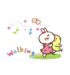 春にやさしいスタンプ【白うさぎ&インコ】(個別スタンプ:8)