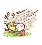 春にやさしいスタンプ【白うさぎ&インコ】(個別スタンプ:14)