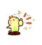 春にやさしいスタンプ【白うさぎ&インコ】(個別スタンプ:20)