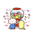 春にやさしいスタンプ【白うさぎ&インコ】(個別スタンプ:23)