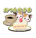 春の三毛猫ツインズ(個別スタンプ:14)