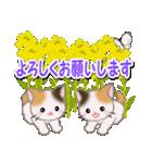 春の三毛猫ツインズ(個別スタンプ:20)