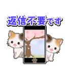 春の三毛猫ツインズ(個別スタンプ:31)