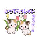 春の三毛猫ツインズ(個別スタンプ:33)