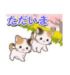 春の三毛猫ツインズ(個別スタンプ:35)