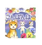 飛び出す 花と猫(個別スタンプ:4)