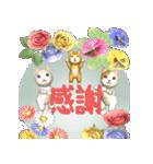 飛び出す 花と猫(個別スタンプ:15)