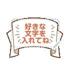 メッセージ★シンプル手書き風フレーム(個別スタンプ:11)