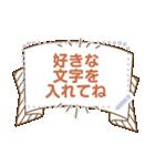 メッセージ★シンプル手書き風フレーム(個別スタンプ:16)