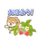 よちよち豆柴 おいしい春(個別スタンプ:2)