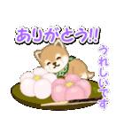 よちよち豆柴 おいしい春(個別スタンプ:20)