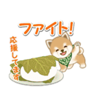 よちよち豆柴 おいしい春(個別スタンプ:25)