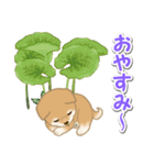 よちよち豆柴 おいしい春(個別スタンプ:40)