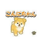 ちびもふ秋田犬 毎日使うスタンプ(個別スタンプ:3)