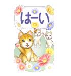 花と猫 BIGスタンプ(個別スタンプ:2)