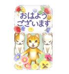 花と猫 BIGスタンプ(個別スタンプ:5)