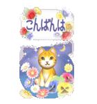 花と猫 BIGスタンプ(個別スタンプ:12)