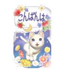 花と猫 BIGスタンプ(個別スタンプ:14)