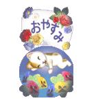 花と猫 BIGスタンプ(個別スタンプ:16)