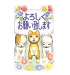 花と猫 BIGスタンプ(個別スタンプ:19)