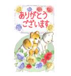 花と猫 BIGスタンプ(個別スタンプ:26)