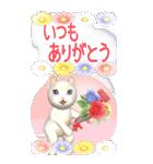 花と猫 BIGスタンプ(個別スタンプ:27)