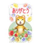 花と猫 BIGスタンプ(個別スタンプ:28)
