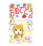 花と猫 BIGスタンプ(個別スタンプ:30)